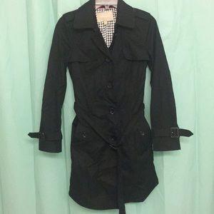 Banana Republic Long Jacket Black petite XS